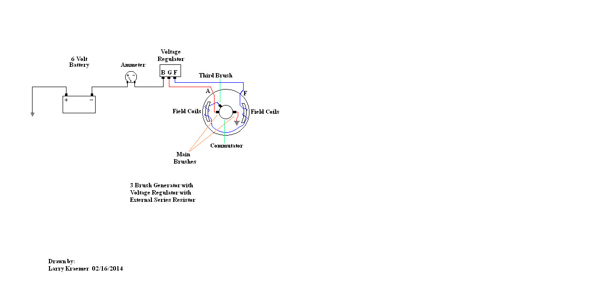 How to determine internally or externally grounded allischalmers forum here is a typical wiring diagram for a three brush generator voltage regulator or if the field wire is also connected to the main brush non three brush asfbconference2016 Image collections