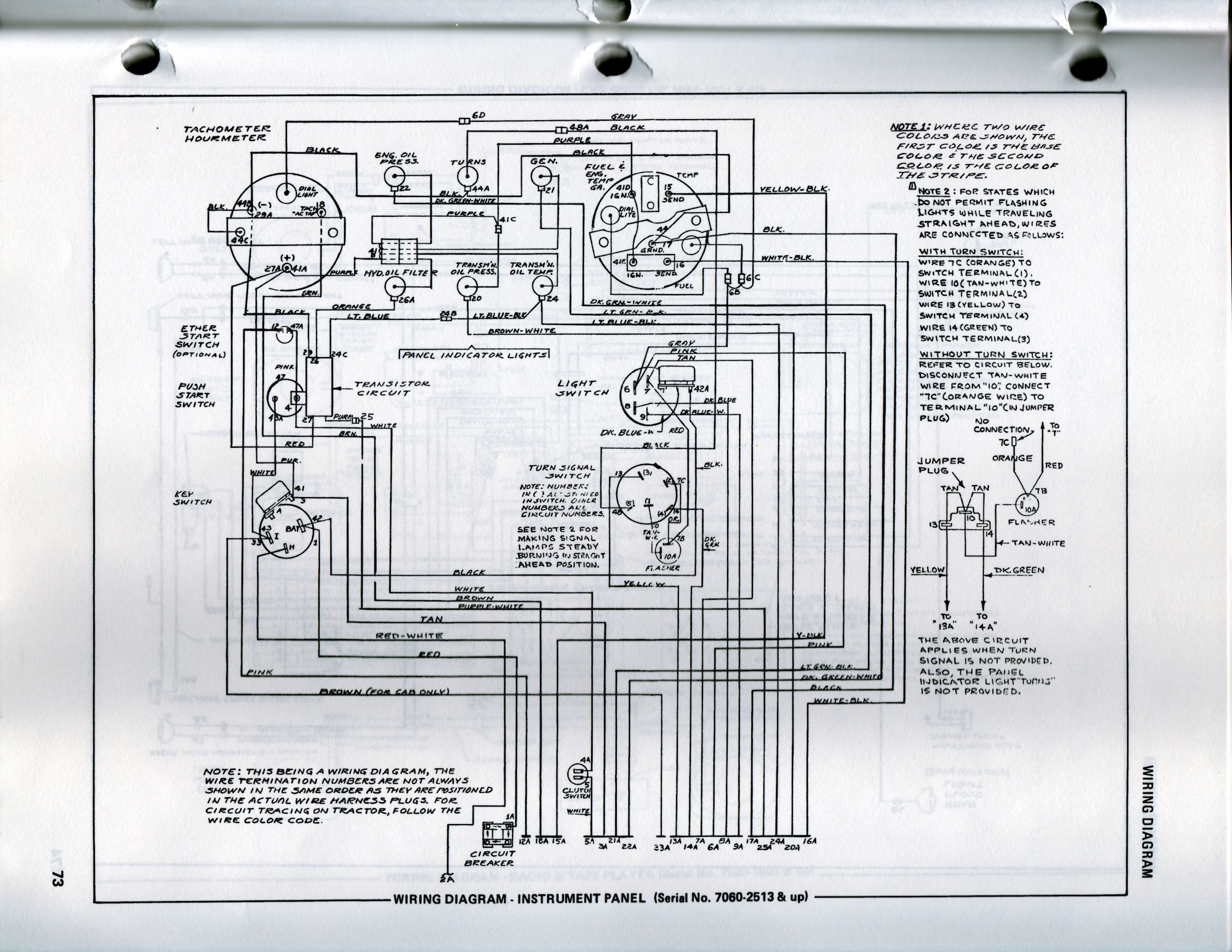 Allis 7060 Wiring Diagram  Schematic