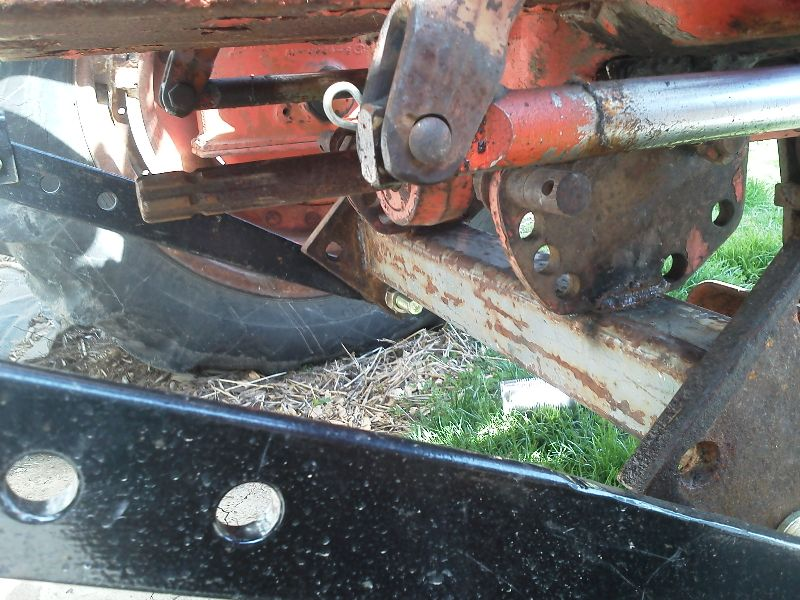 Homemade 3 Point Hydraulic Top Link : Homemade rear set of forks for wd allischalmers forum