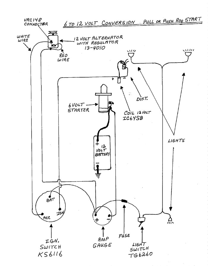 1_distributor_push_or_pull_start_6_to_12 12 volt conversion problems allischalmers forum 12 volt conversion wiring diagram at edmiracle.co