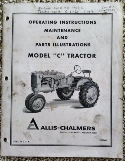 allis chalmers c service manual