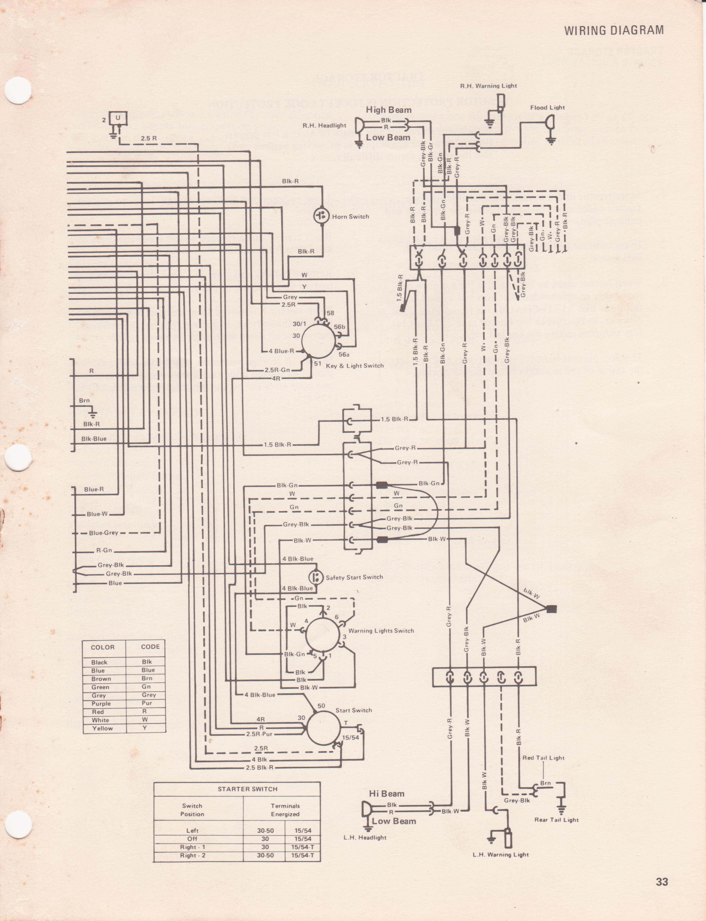 A-c 5040 Ignition Switch Diagram