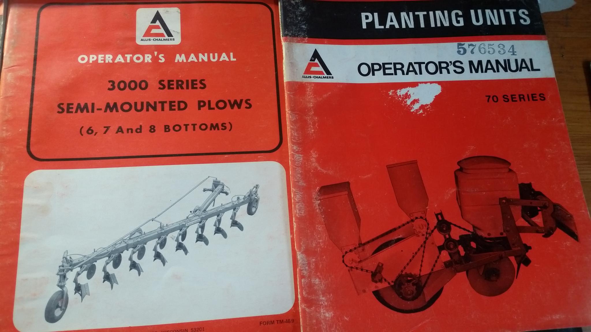 owner s manuals allischalmers forum rh allischalmers com Allis Chalmers No-Till Corn Planter Allis Chalmers Planter Plates
