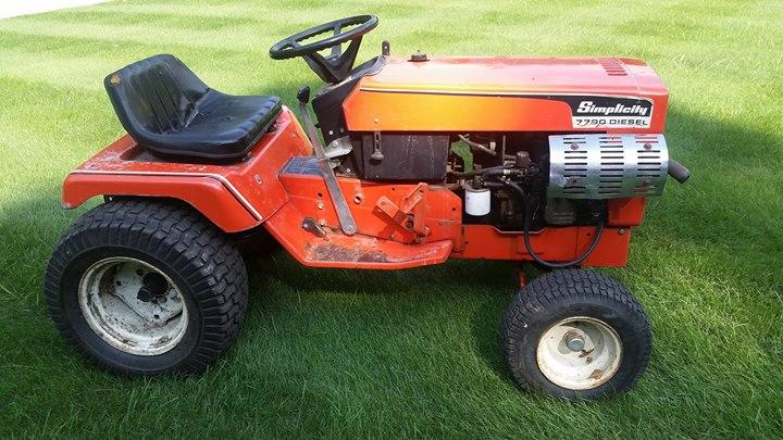 Simplicity 7790 Diesel Garden Tractor SWMI AllisChalmers Forum