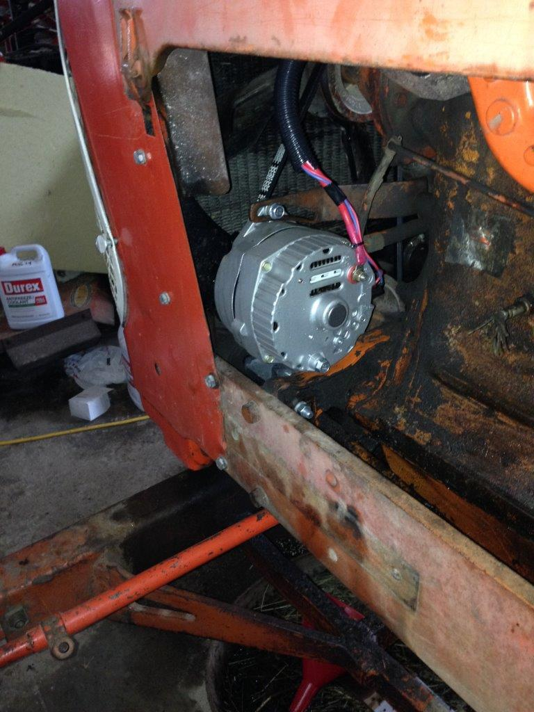 D17 S1 Change To Alternator Allischalmers Forum Wiring A New Amp Gauge Tractor 2016 Car Release Date I Also Wired In An Idiot Light Go With The 60 Ammeter