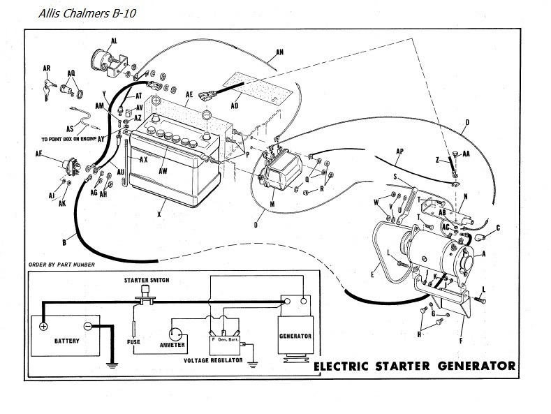 wiring allis b model allischalmers forum rh allischalmers com D 17 Allis Chalmers Wiring Schematic Allis Chalmers Zenith Carburetor