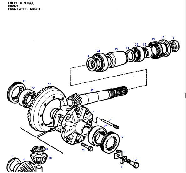 6080 4wd Front Diff Shaft Sheared